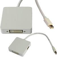 Переходник, штекер mini Display Por t- Digi-Port (HDMI, DVI, Display Port), корпус пластиковый