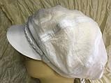 Белая женская летняя кепка из хлопка размер 56-59, фото 2