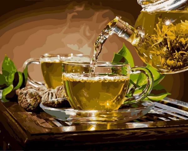 Картина по номерам Чай с мятой, 40x50 см., Babylon