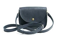 Женская сумка мини на плечо из натуральной кожи Goose™ G0025 синий (ручная работа), фото 1