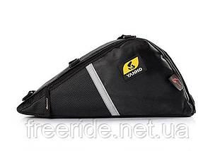 Велосумка YANHO, трикутний сумка під раму (чорна), фото 2