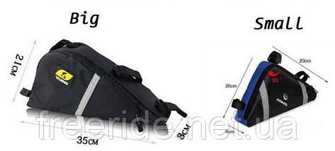 Велосумка YANHO, треугольный сумка под раму (черная), фото 3