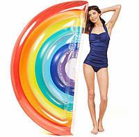 Надувной матрас Радуга. Для пляжа бассейна и вечеринок. Размер 180 см надувная радуга игрушка радуга
