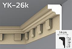 Карниз подкровельный фасадный YUM Decor YK-26k