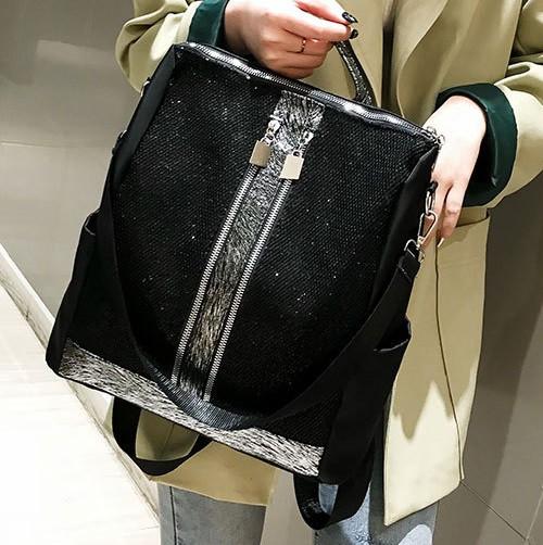 Женский молодежный повседневный водоотталкивающий рюкзак с декором на лицевой стороне