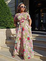 """Летнее платье большого размера с цветочным принтом """"Цветочная нежность"""""""