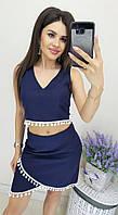 Костюм топ и юбка летний в расцветках 40473