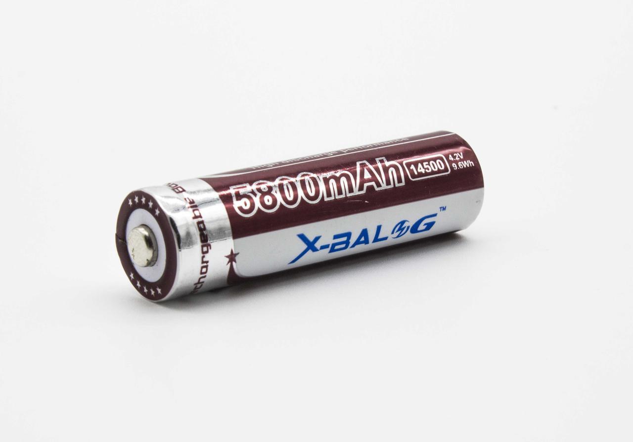 Аккумулятор 14500 Li-Ion X-BALOG  5800 mAh