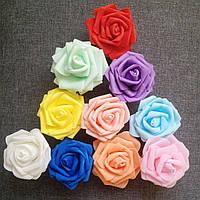 Головка розы латексная  6 см.