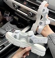 Женские сандалии босоножки Gucci Sandals White белые. Живое фото. Топ качество. (Реплика ААА+)