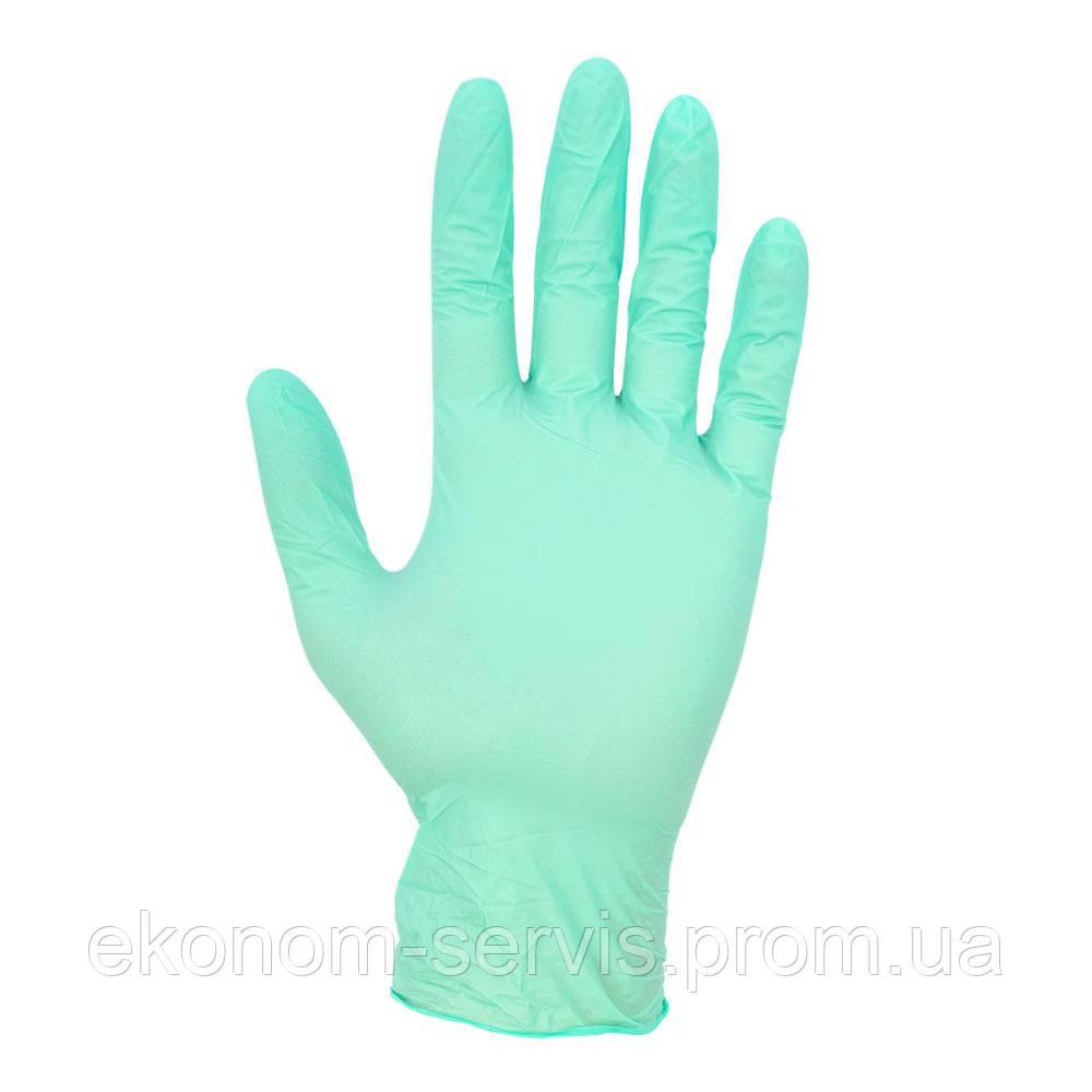 Перчатки нитриловые Mercator Medical 100 шт. зелёные, S.