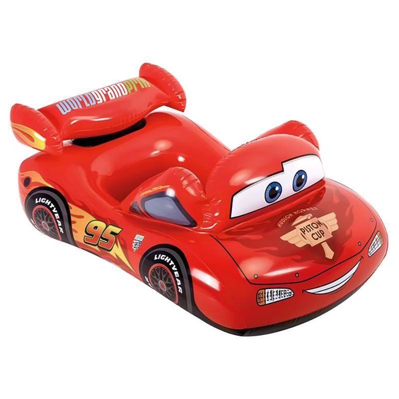 Дитячий надувний машина POOL CRUISER Тачки 109X71 см Іntex 58392 червоний плотик