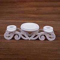Тройной деревянный подсвечник (арт. CL-002)