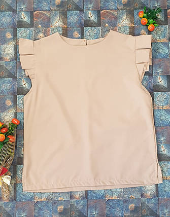 Блузка Ярослава  128-152 бежевый, фото 2