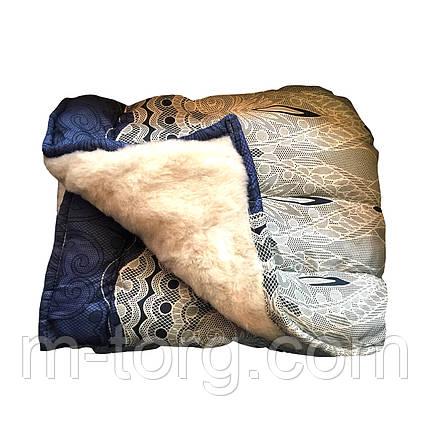 Одеяло овечья шерсть полуторное 145/215,ткань поликотон, фото 2