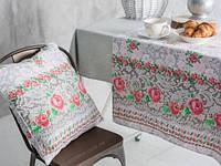 Подушка Ecotton декоративная холлофайбер 50х50 (Вышивка крестиком)