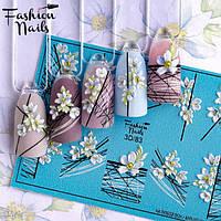 Декор для ногтей наклейки цветы
