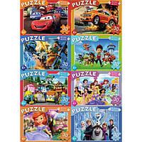 Пазлы 30 элементов микс №2 (8 шт в блоке) Любимые герои мультфильмов