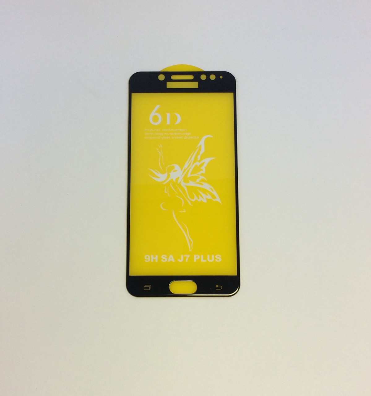 Защитное стекло Premium 6D для SAMSUNG Galaxy J7 PLUS (2018) - черный