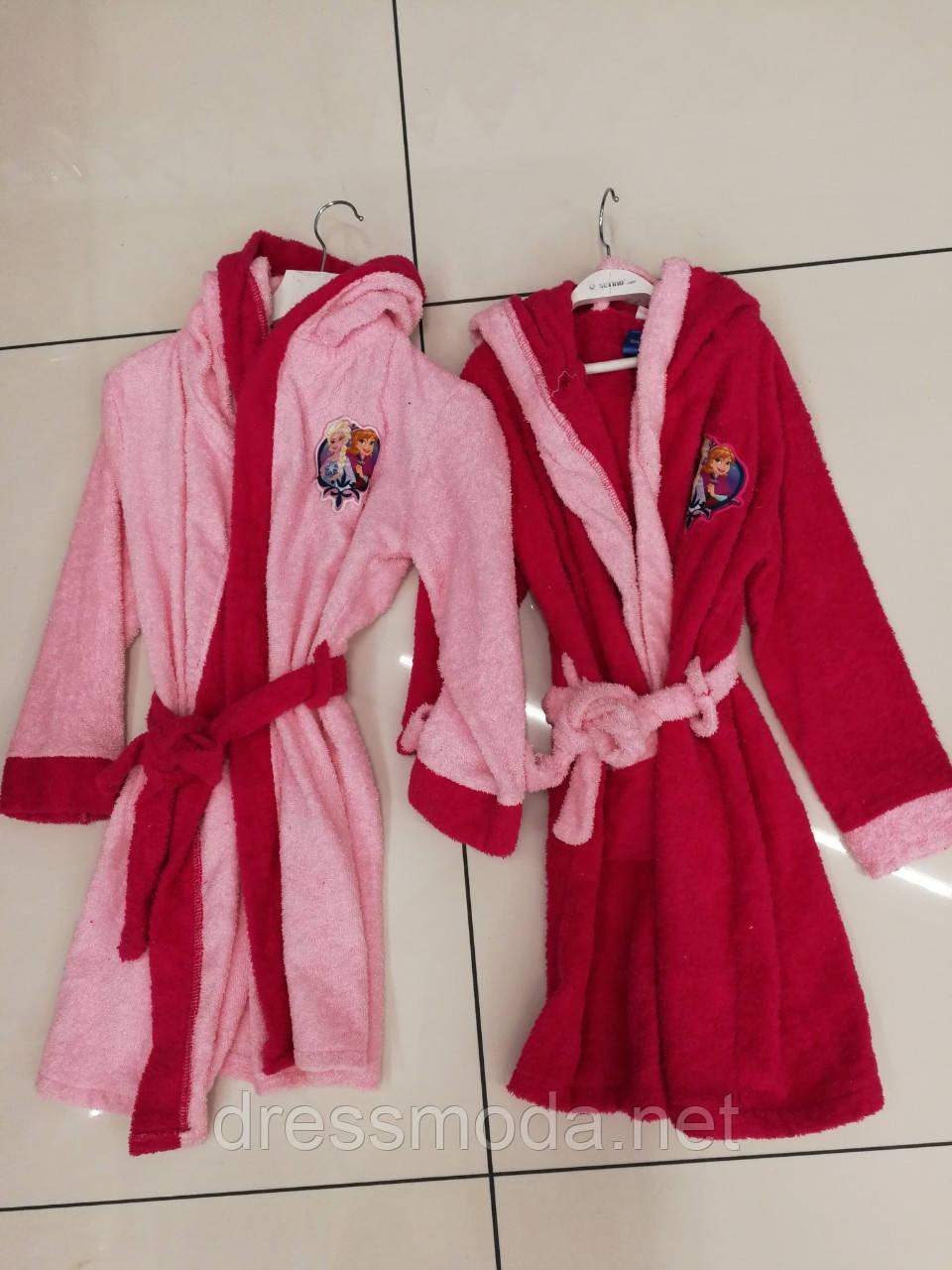 Халаты махровые для девочек Frozen  5-12 лет