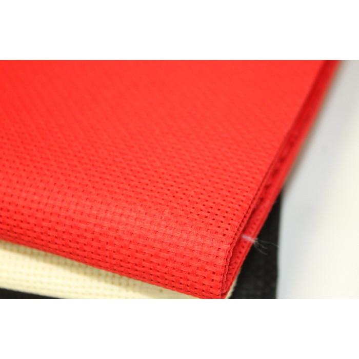 Канва для вышивки, красная 14 каунт  15х20 см