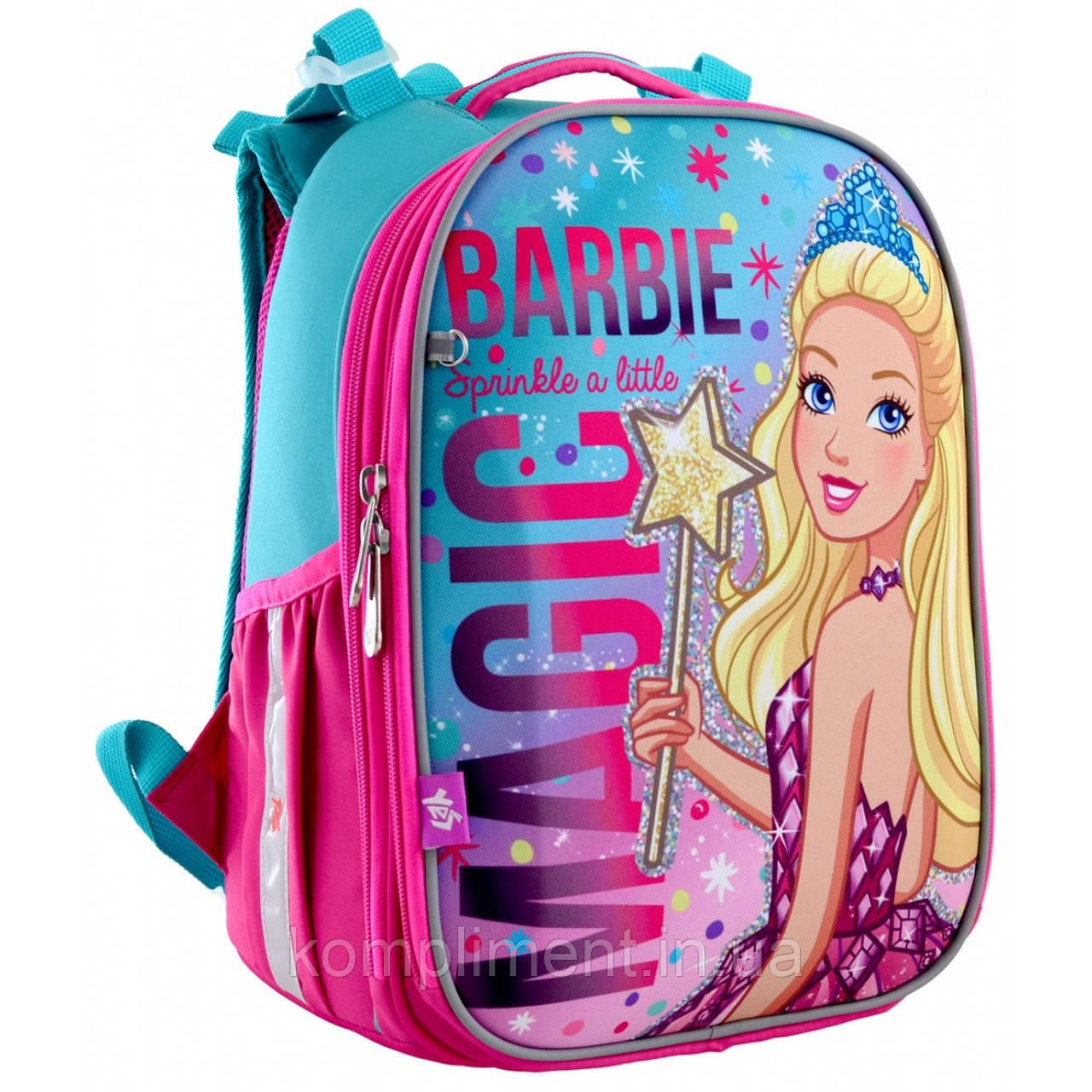 """Рюкзак школьный каркасный ортопедический для девочки  H-25 """"Barbie"""", YES"""