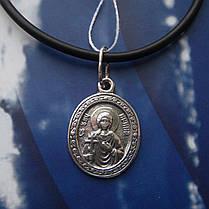 Серебряная подвеска-ладанка Святая Ирина, фото 2