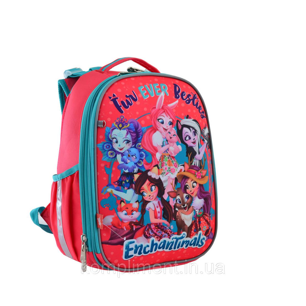 """Рюкзак шкільний каркасний ортопедичний для дівчинки H-25 """"Enchantimals"""", YES"""