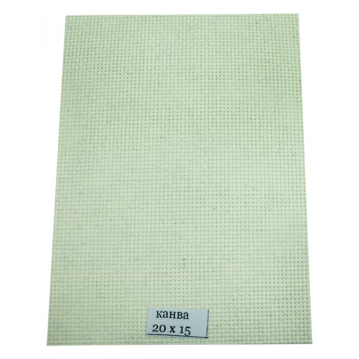 Канва для вышивки, бежевая 14 каунт  15х20 см