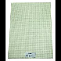 Канва для вышивки, бежевая 14 каунт  15х20 см, фото 1