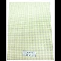 Канва для вышивки, бежевая 14 каунт  30х20 см, фото 1