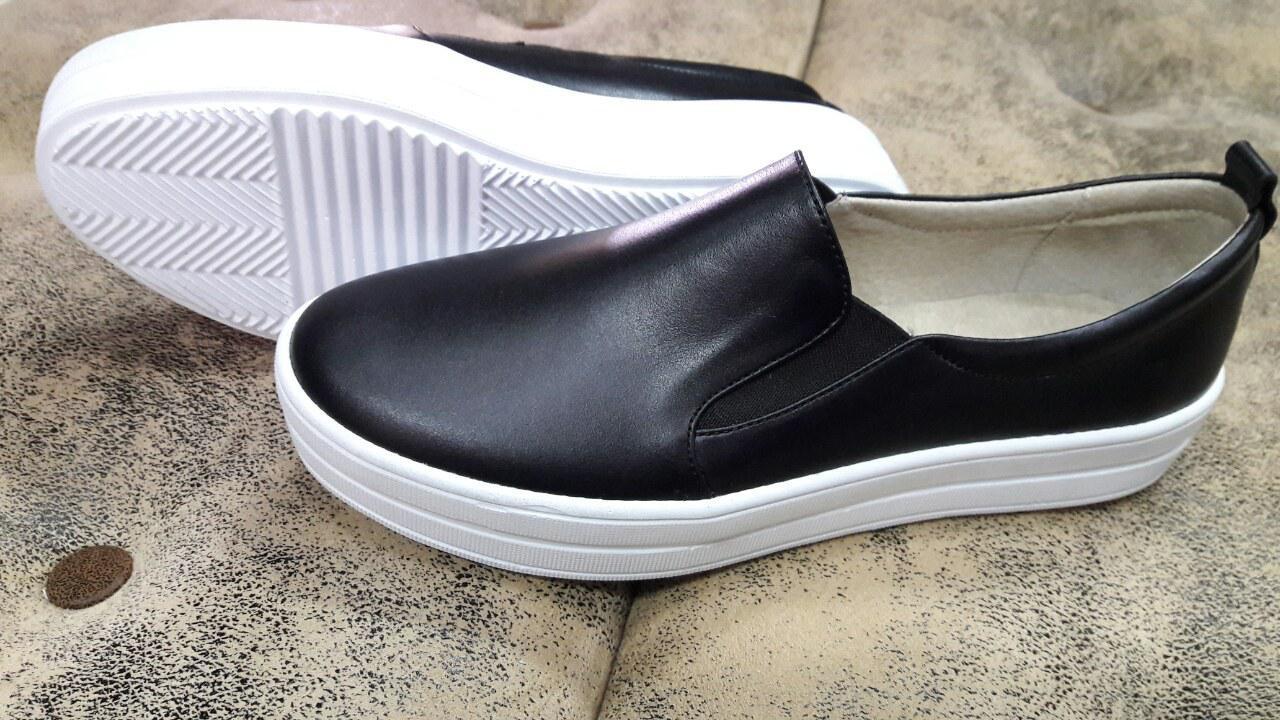 bb9cb3e41c96 Женские кожаные слипоны черные. Украина: продажа, цена в Украине. мокасины  и ...