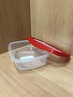 Пищевой контейнер с красной крышкой 0.5л.