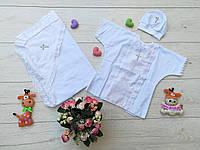 Крестильный набор 3 в 1-крыжма, сорочка и шапочка