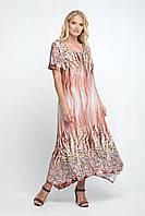 Платье большого размера Романтика 52-62 беж, красивое, фото 1