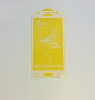Защитное стекло Premium 6D для SAMSUNG J330 Galaxy J3 (2017) - белый