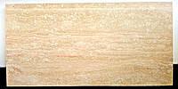 """Плитка из натурального травертина """"Crem Light"""" заполненная полированная Vein Cut 600х300х20 мм"""