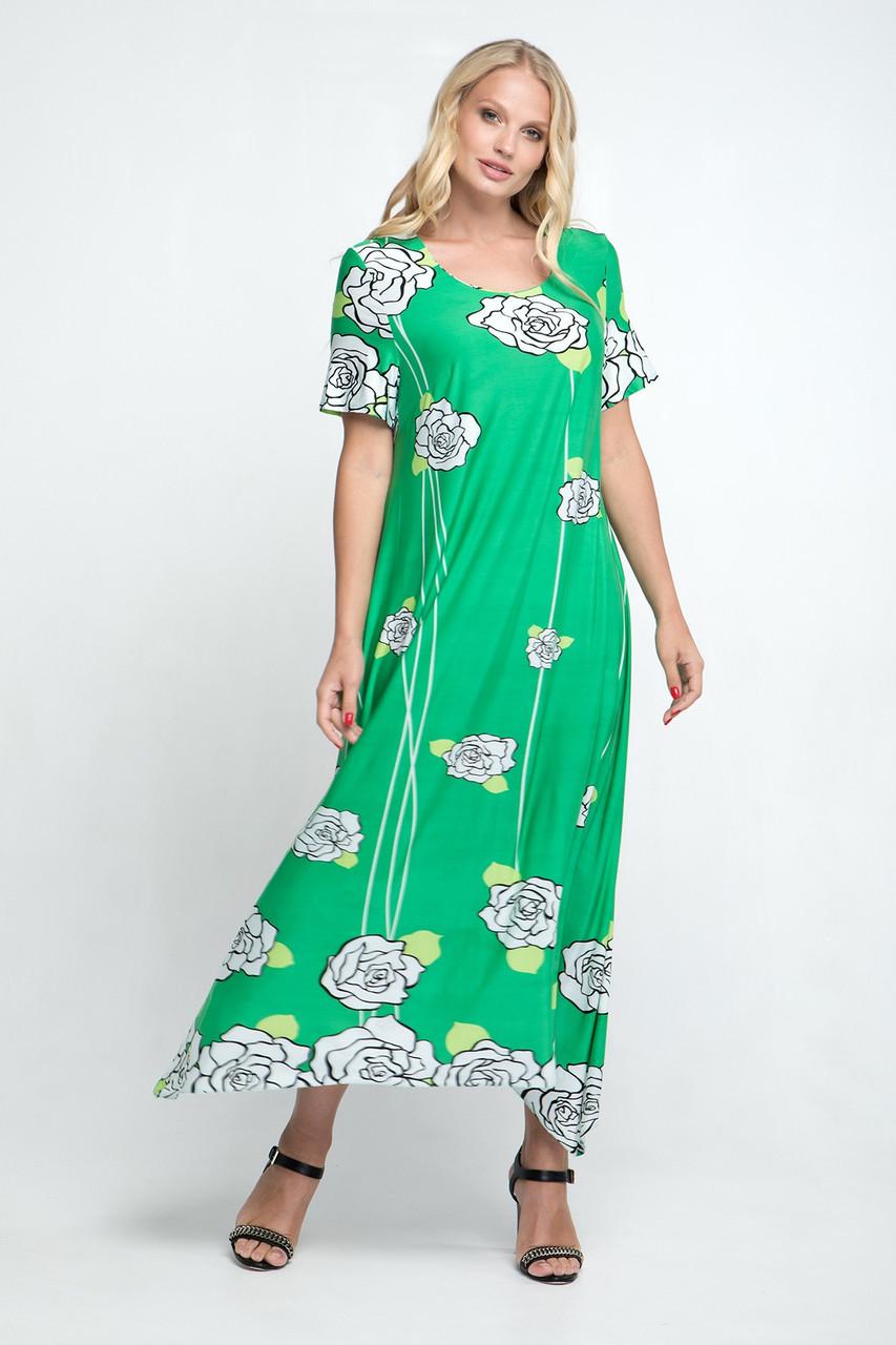 Плаття великого розміру Романтика 52-62, красиве