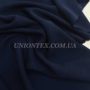 Ткань штапель вискоза плотный темно-синий