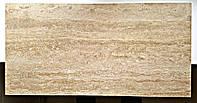 """Плитка из натурального травертина """"Noche"""" заполненная полированная Vein Cut 600х300х20 мм"""