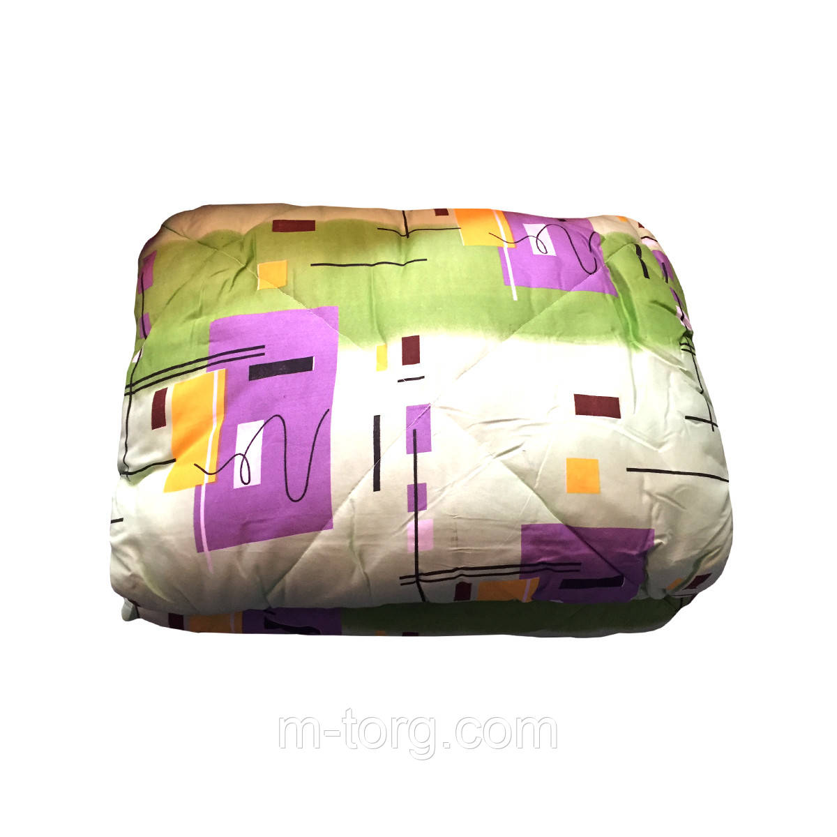 Одеяло шерстяное двуспальное 175/215, ткань поликоттон