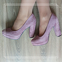 Туфли Mengting XX40-4 розовая замша, фото 1