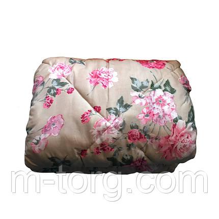 Ковдра напіввовна двоспальне 175/215, тканина полікотон, фото 2