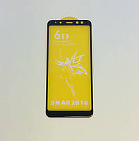 Защитное стекло Premium 6D для SAMSUNG A530 Galaxy A8 (2018) - черный