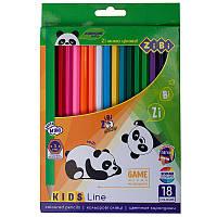 Цветные карандаши, 18 цветов, KIDS LINE, ZB.2415