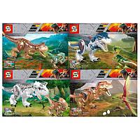 Конструктор Динозавр, от 31 детали, 4 вида, SY001-04