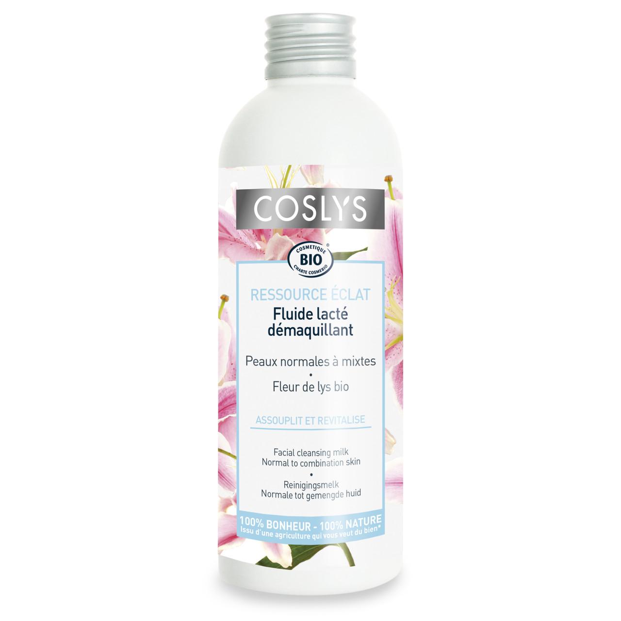 Очищающее молочко для нормальной и комбинированной  лица органическая Coslys,200 мл