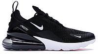 """Кроссовки Nike Air Max 270 """"Black White"""" - """"Черные Белые"""" (Копия ААА+)"""