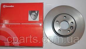 Диск гальмівний передній вентильований Renault Duster 1.5 DCi, 1.6 16V 4x4 Brembo 09.A727.14)(висока якість)