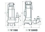 Дренажно-фекальный насос Sprut V1100 132120, фото 4